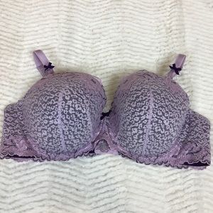 torrid Intimates & Sleepwear - Torrid 46C Purple Lace Demi Bra Padded Underwire